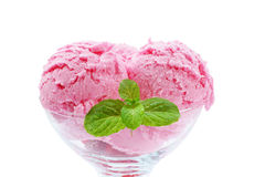 Strawberry ice cream Stock Photos
