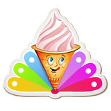 Strawberry ice cream Royalty Free Stock Image
