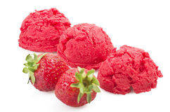Strawberry ice cream Stock Photography