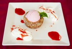 Strawberry ice cream Royalty Free Stock Image