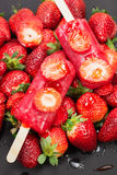 Strawberry ice cream royalty free stock photos