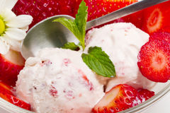 Strawberry ice cream Stock Photo