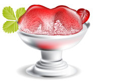 Strawberry ice cream Royalty Free Stock Images