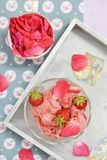 Strawberry ice cream. Royalty Free Stock Images