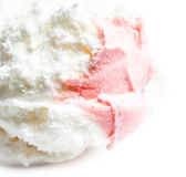 Strawberry Ice Cream  over white background. Macro. Beau Stock Image