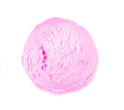 Strawberry ice cream scoop stock images
