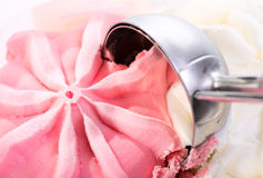 Strawberry ice cream scoop Royalty Free Stock Image