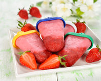 Strawberry ice cream Stock Image