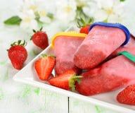 Strawberry ice cream Stock Photography