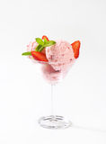 Strawberry ice cream sundae Royalty Free Stock Photos