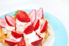 Strawberry ice cream fake plastic royalty free stock images