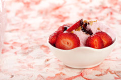 Strawberry icecream Royalty Free Stock Photos