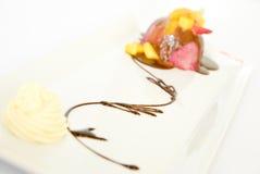 Strawberry icecream Stock Photos