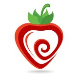 Strawberry Icon. Abstract vector illustration Stock Photos