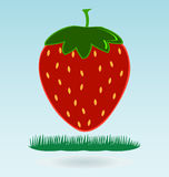 Strawberry icon. Flat design style modern illustration, grass concept vector illustration