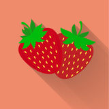 Strawberry icon Stock Photos