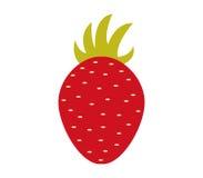 Strawberry icon illustrated Royalty Free Stock Photos