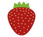 Strawberry icon illustrated Stock Photos