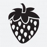 Strawberry icon royalty free illustration