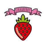 Strawberry icon. Organic food design. Vector graphic Royalty Free Stock Photos