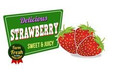 Strawberry icon Stock Image
