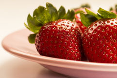 Strawberry. Ideal for wallpaper or postcard. Could be useful in presentations, web and printing design Royalty Free Stock Images