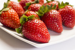 Strawberry. Ideal for wallpaper or postcard. Could be useful in presentations, web and printing design Stock Image