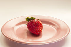 Strawberry. Ideal for wallpaper or postcard. Could be useful in presentations, web and printing design Stock Photo
