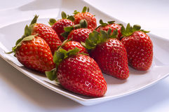 Strawberry. Ideal for wallpaper or postcard. Could be useful in presentations, web and printing design Stock Photography