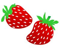 Strawberry illustration Stock Photography