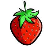 Hand-Drawn Strawberry Illustration Clipart Royalty Free Stock Photo