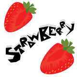 Strawberry Illustration Wallpaper. Strawberry cartoon wallpaper  illustration icons Royalty Free Stock Photography