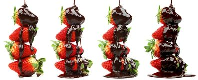 Free Strawberry In Chocolate Syrup Stock Images - 38043404