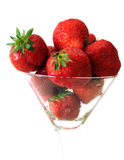 Strawberry In Glass Stock Photography