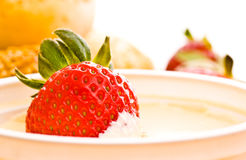 Free Strawberry In Sour Cream Stock Photos - 13500853