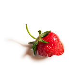 Strawberry In Yogurt Royalty Free Stock Photos