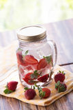 Strawberry infuse water Stock Images