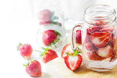 Strawberry Infused Water Royalty Free Stock Photography