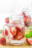 Strawberry Infused Water Stock Photo