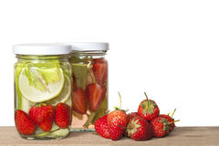 Strawberry Infused water Stock Images