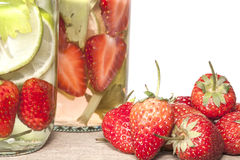 Strawberry Infused water Royalty Free Stock Images