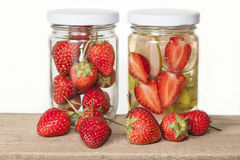 Strawberry Infused water ,refreshment Royalty Free Stock Photography
