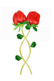 Strawberry invalentine  love. Strawberry isolated in white Royalty Free Stock Photos