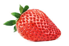 Strawberry isolated. Strawberry. One strawberry isolated on white background Royalty Free Stock Photos