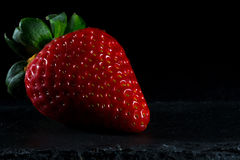Strawberry. Isolated with black background Stock Images