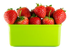 Strawberry isolated. And fresh, sweet on white and gray background stock image