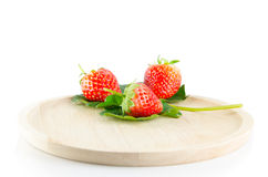 Strawberry isolated. And fresh, sweet on white and gray background stock images