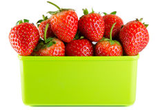 Strawberry isolated. And fresh, sweet on white and gray background royalty free stock image