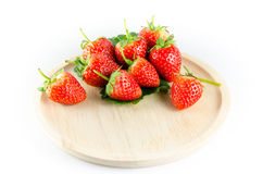 Strawberry isolated. And fresh, sweet on white and gray background stock photos