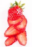 Strawberry Isolated On White Stock Photos